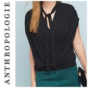 Anthropologie XS Rambuteau Surplice Top Shirt Tee
